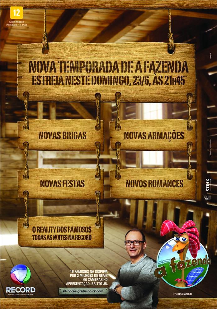 nova/sb assina campanha do reality show A Fazenda - Mídia e ...