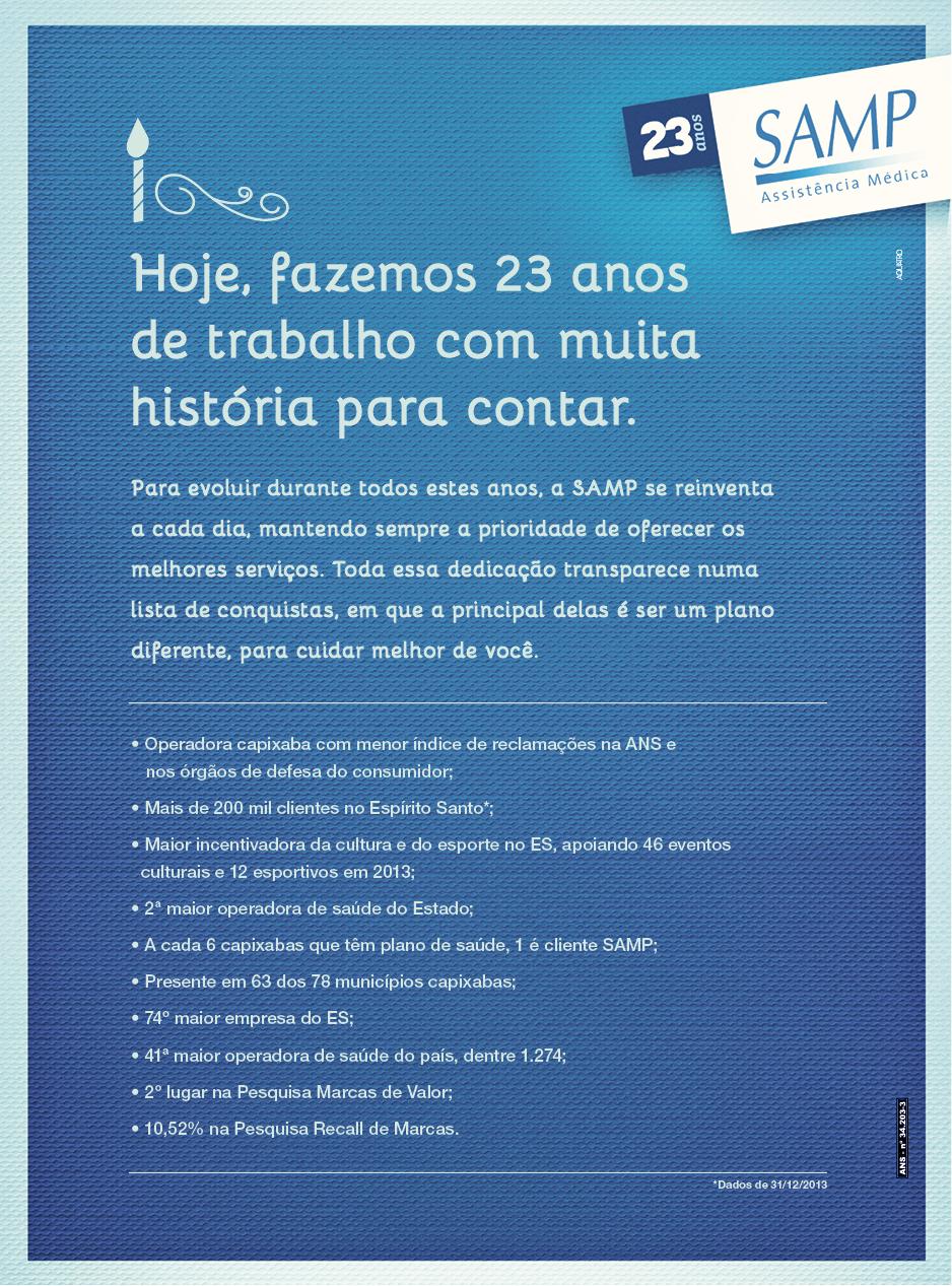 SAMP anuncio de aniversário