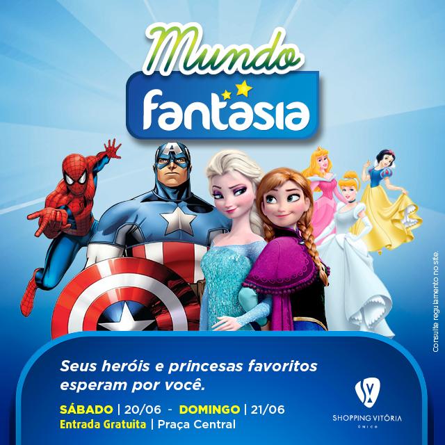 Princesas e super-heróis na programação infantil do Shopping Vitória ... af32b219c66d2