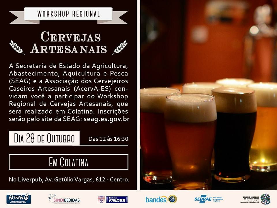 Colatina recebe workshop de cervejas artesanais