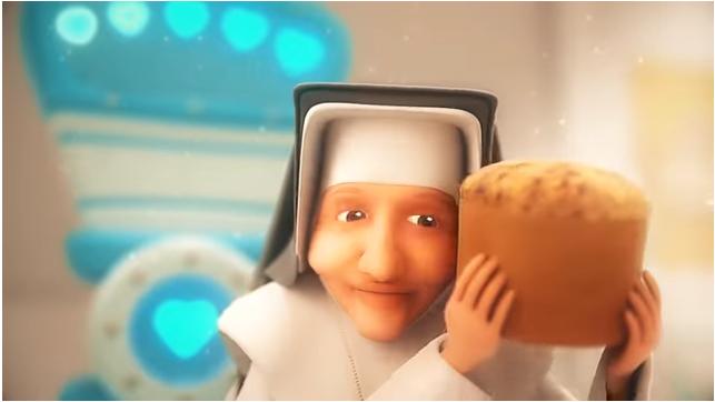 cena do filme do panetone irmã Dulce