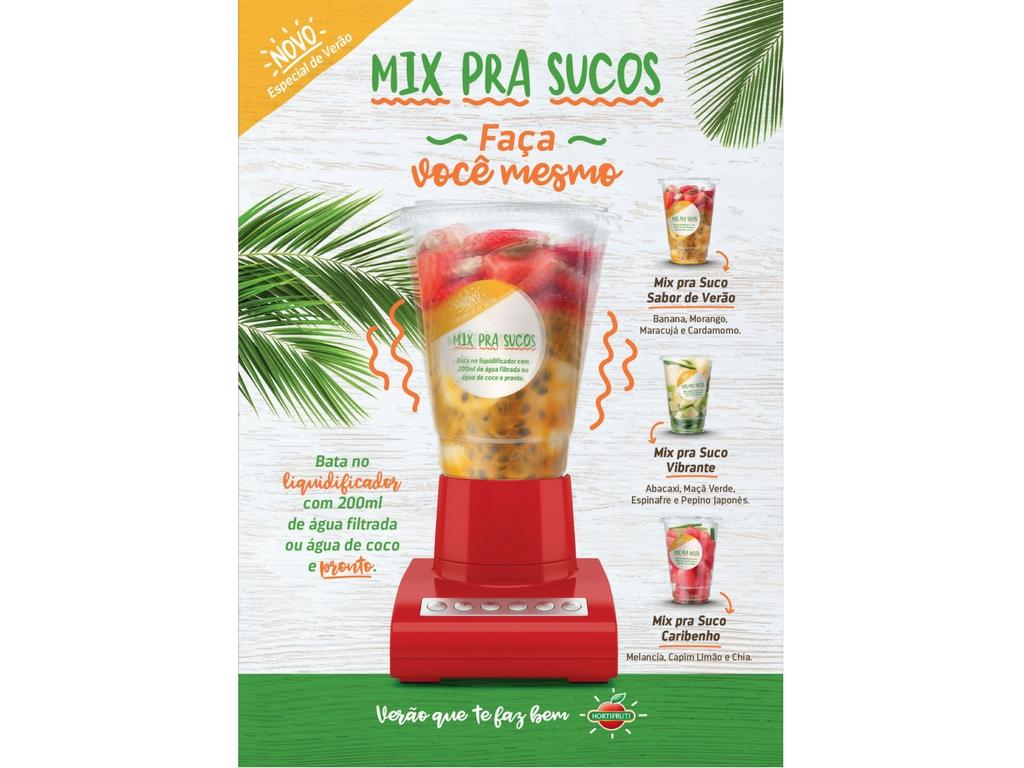Hortifruti lança linha de Mix pra sucos em parceria com a MP Publicidade