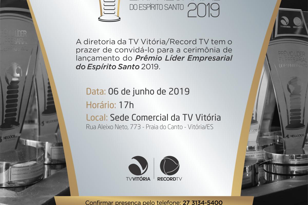 TV Vitória recebe convidados para lançamento do Prêmio Líder Empresarial 2019