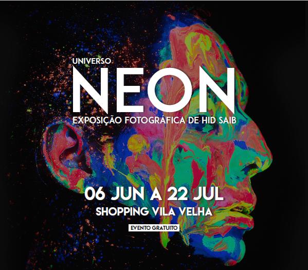 Exposição Universo Neon, do capixaba Hid Saib, chega ao