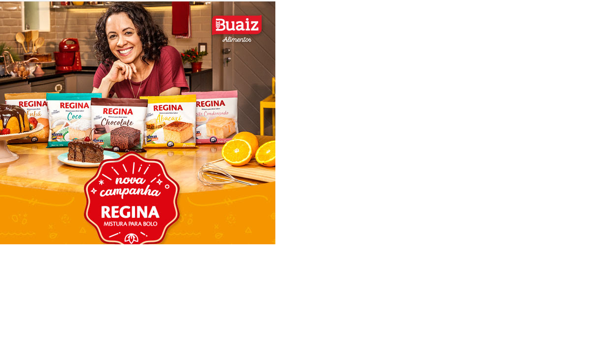 Buaiz Alimentos lança novas embalagens de misturas para bolos Regina