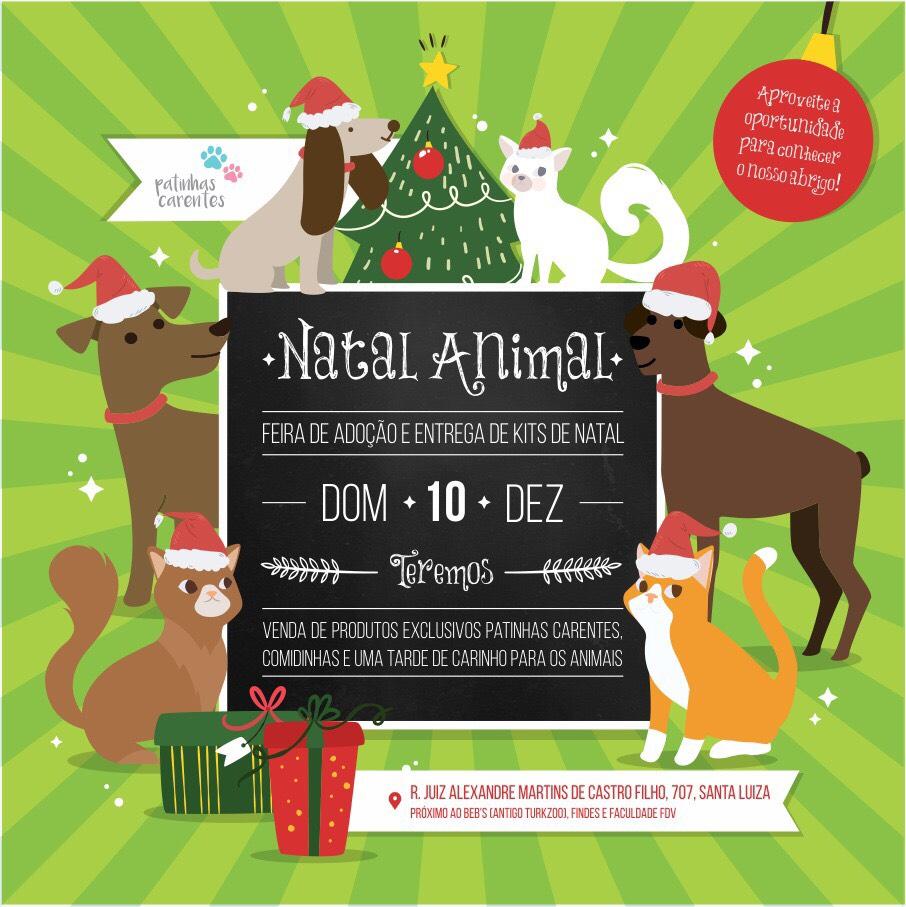 Natal Animal Patinhas Carentes